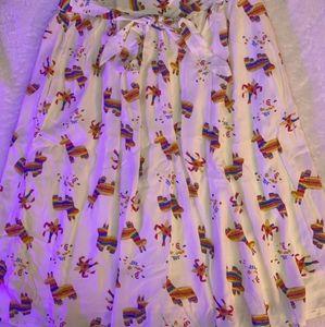 White pinata midi skirt (modcloth)